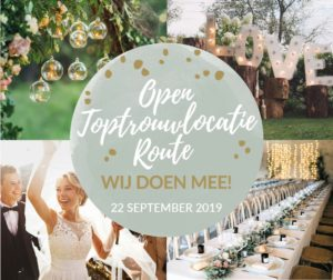 Open Toptrouwlocatie Route 22 september 2019
