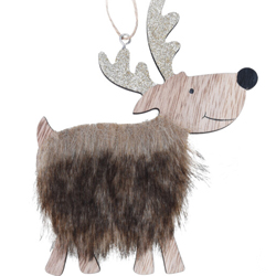 Kerstboom hanger rendier (bruin)