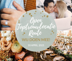 Open Toptrouwlocatie Route zondag 18 april 2021